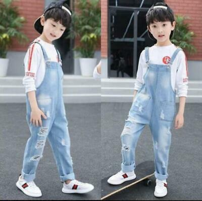 Boys Overall Suspenders Jeans Kids Child Loose Casual Bib Demin Pants Jumpsuits