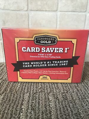 Cardboard Gold Card Saver 1 - 200 Ct Box For Psa Grading Submissions.