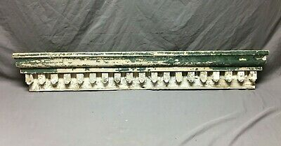 Antique Destressed Pediment Top Shabby VTG Chic White Country Old 902-20B