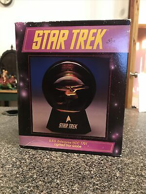NEW NIB STAR TREK Classic TOS Enterprise NCC-1701 Glitter Water Globe