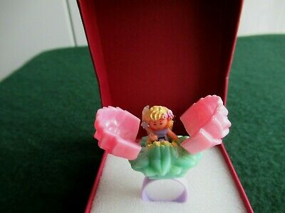100/% Complete With Original Figure Polly Pocket PINK SECRET ROSE FAIRY RING