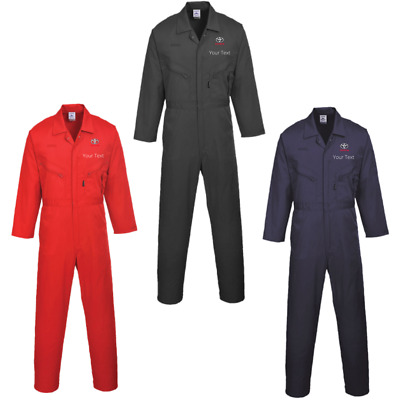 Massey Ferguson personalised embroidered BoilersuitOverall Portwest Multi zip heavy duty mechanic