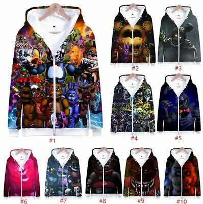 PubliciTeeZ FNAF Five Nights at Freddy/'s Foxy Adult Hoodie