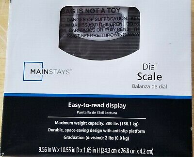 Max Weight 300 lbs Mainstays Dial Scale Anti-slip Platform
