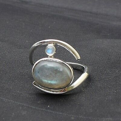 Details about  /Vintage 1980s Collection Tourmaline Gemstone 925 Solid Silver Ring US-7.5