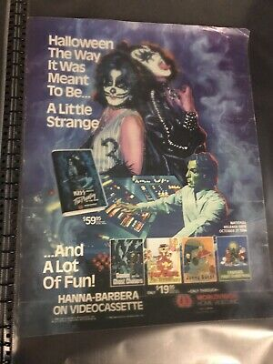 KISS MEETS THE PHANTOM OF THE PARK Movie Gene Simmons Poster Y1561 36x24 40x27