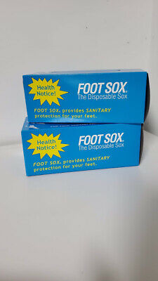Foot Sox Original Disposable Try on Socks (2 Box Set)