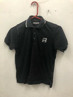 Boys Timberland Black Polo Shirt Age 10 Years