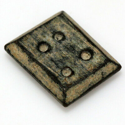 ANCIENT BYZANTINE BRONZE SQUARE WEIGHT CIRCA 500-700 AD-4.39gr