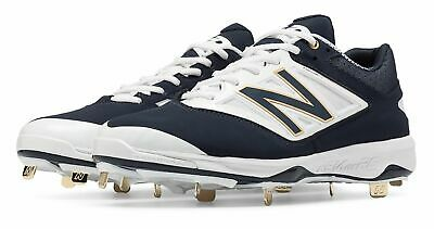 New Balance Low-Cut 4040v3 Metal Baseball Cleat Mens Shoes Navy with White Size