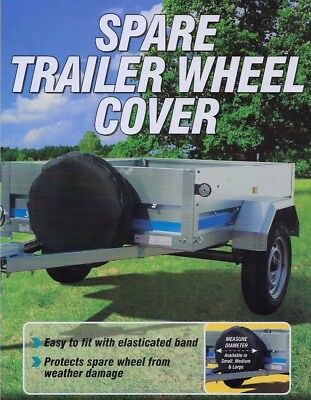 """8"""" Trailer Spare Wheel Cover - Suitable for Erde & Daxara Trailer 400 x 8"""