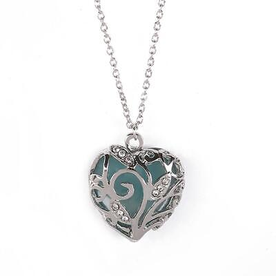 SILVER /& DIAMANTÉ HOLLOW LOVE HEART PENDANT NECKLACE new in gift bag REDUCED !