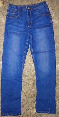 Boys Nutmeg Age 7-8 Blue Slim Leg Jeans.
