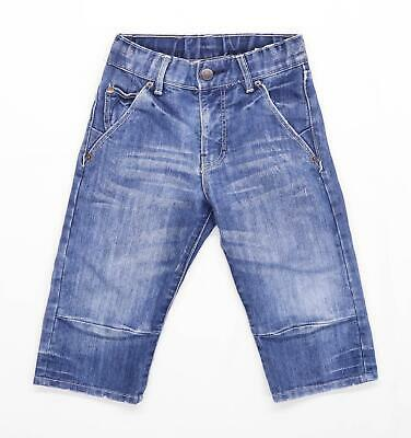 H&M Boys Blue Zip Up Jeans Age 6 Years