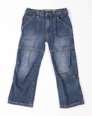 Vintage Boys Blue Zip Up Jeans Age 4-5 Years