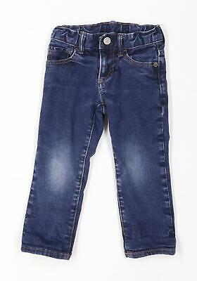 Gap Boys Blue Zip Up Jeans Age 3 Years