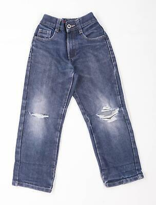 George Boys Blue Distressed Jeans Age 6-7 Years