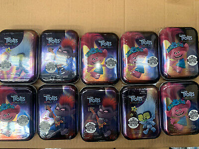 Topps Trolls World Tour Mini Tins 40 Trading Cards inc Gold Limited Edition