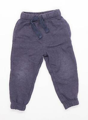 George Boys Grey Drawstring Waist Tracksuit Bottoms Age 2-3 Years