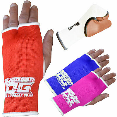 RED THUMBLESS DUO GEAR THAIBOXING KICKBOXING HAND INNER GLOVE PAIR