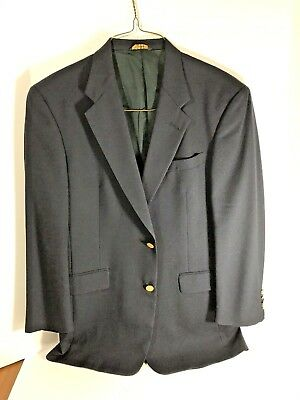 Austin Reed Men S Navy Blue Striped Wool 2 Piece Suit 44l Pants 38x32 P6 28 00 Picclick