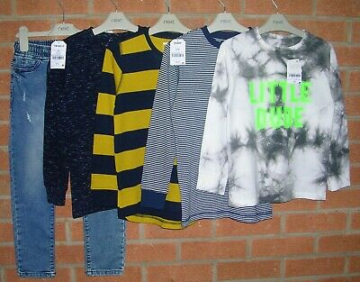 BNWT 100% NEXT Boys Bundle Jeans Jumpers Tops T-Shirts Age 6-7 122cm NEW