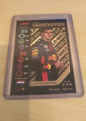 Topps Turbo Attax Limited Edition Max Verstappen Gold LE2G