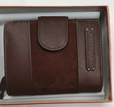 Brown Florentino Quality Leather RFID Purse