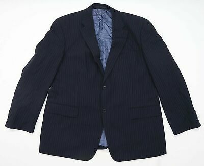 Austin Reed Mens Wool Blend Striped Blue Suit Jacket 46 Chest Regular 12 00 Picclick Uk