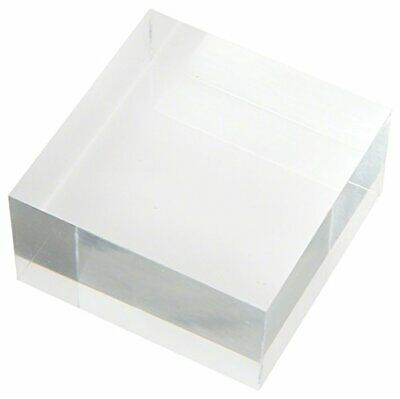 Plymor Clear Polished Acrylic Square Display Block, 1.5 H x 3 W x 3 D