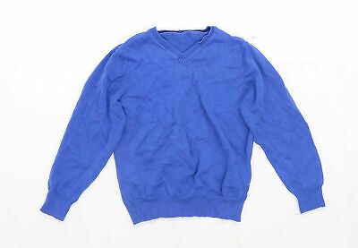 George Boys Blue School Jumper Age 5-6 Years