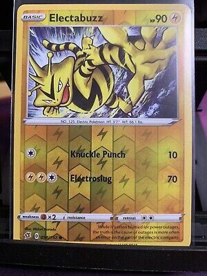 058//192 Electabuzz Common Reverse Holo Card Pokemon Sword /& Shield Rebel Clash