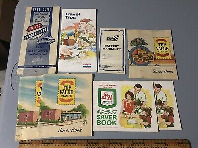 Exxon Travel Tips United Motor Courts Sears Warranty Grocery Stamps Brochures