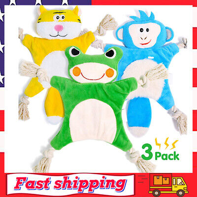 Dog Squeaky Toys for Small Dogs Stuffless Puppy Chew Toys Teething with Crinkle