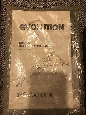 Evolution RAGE8 Reciprocating Saw Fully Working Lightly Used