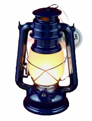 Flicker Flame Nautical Outdoor Patio Blue Lantern Vintage LED Battery Operated
