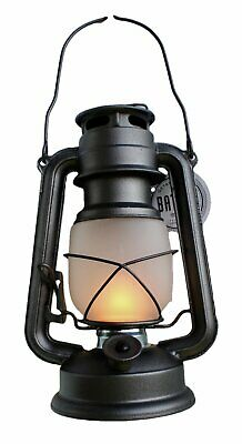 Flicker Flame Nautical Outdoor Patio Silver Lantern Vintage LED Battery Operated