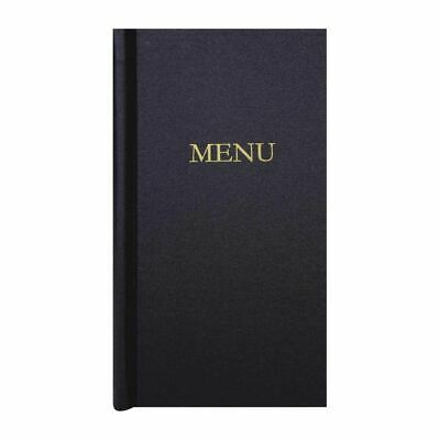 Slip Grip Menu Cover - Black Board & Cloth - Easy to Clean - 2/3 Width - A4