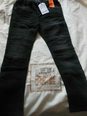 NEXT Boys Black Jersey Denim Jeans Fits 5-6 Years