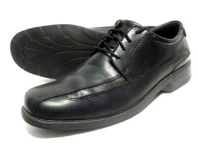 CLARKS POLYSPORT RUN BLACK LEATHER SUEDE COMBI LACE UP CASUAL SHOES MENS UK 12 G