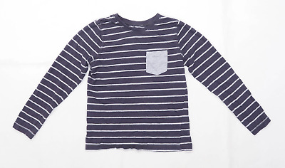 George Boys Striped Grey T-Shirt Age 9-10 Years