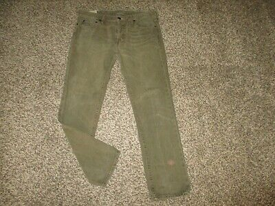 MENS BROWN ABERCROMBIE & FITCH SLIM FIT STRAIGHT LEG JEANS 36x32 A&F