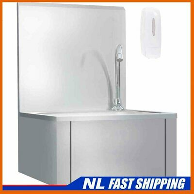 Commercial Hand Wash Sink with Faucet Soap Dispenser Stainless Steel J_Vtin