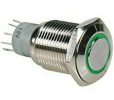 Push Button Switch Vandal Resistant OFF-(ON) Nonfixed 4pins 0.5A/250VAC DPST