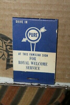 Vintage Pure Oil Cub Magic Lens Tissues Glasses Cleaner Matchbook Style Rare