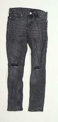 H&M Boys Textured Black Jeans Age 11-12 Years