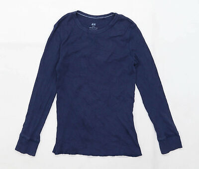 H&M Boys Blue Top Age 9-10 Years