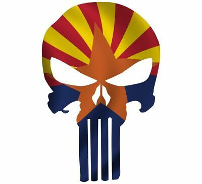 "Skull Decal State Of Arizona Cut-out 2"",4"",6"",8"""