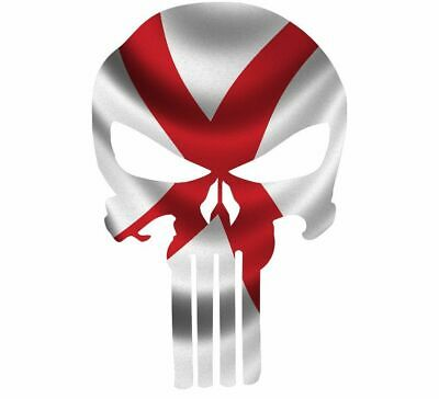 "Skull Decal State Of Alabama Cut-out 2"",4"",6"",8"""