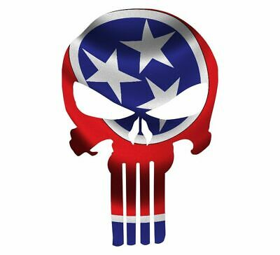 "Skull Decal State Of Tennessee Cut-out 2"",4"",6"",8"""